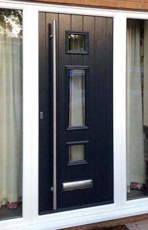 Solidor Composite Front Doors Black