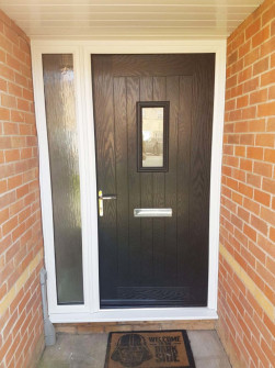 Truedor Composite Front Door in Black