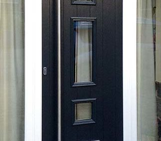 Solidor Composite Front Doors Black