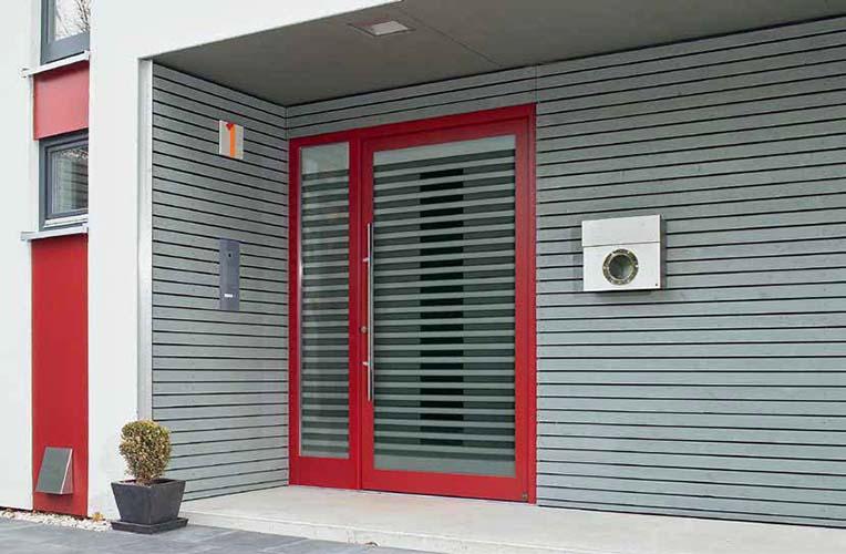 Hormann topcomfort aluminium front entrance doors abi for Front doors that let in light