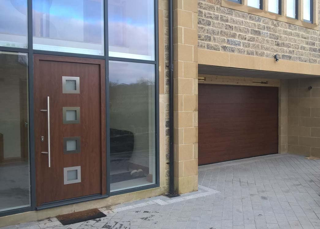 Hormann Steel Entrance Door Decograin Yorkshire