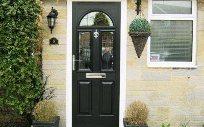 Solidor Front Door Conway Design in Black