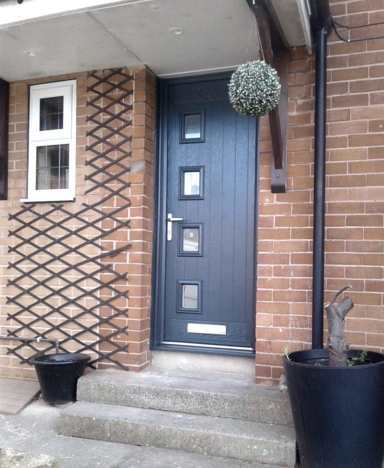 Truedor Composite Front Door Style 1B installed in Leeds