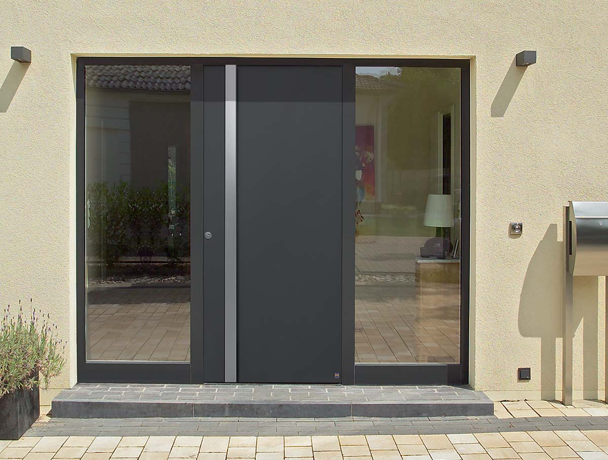 Hormann Aluminium ThermoCarbon Front Doors