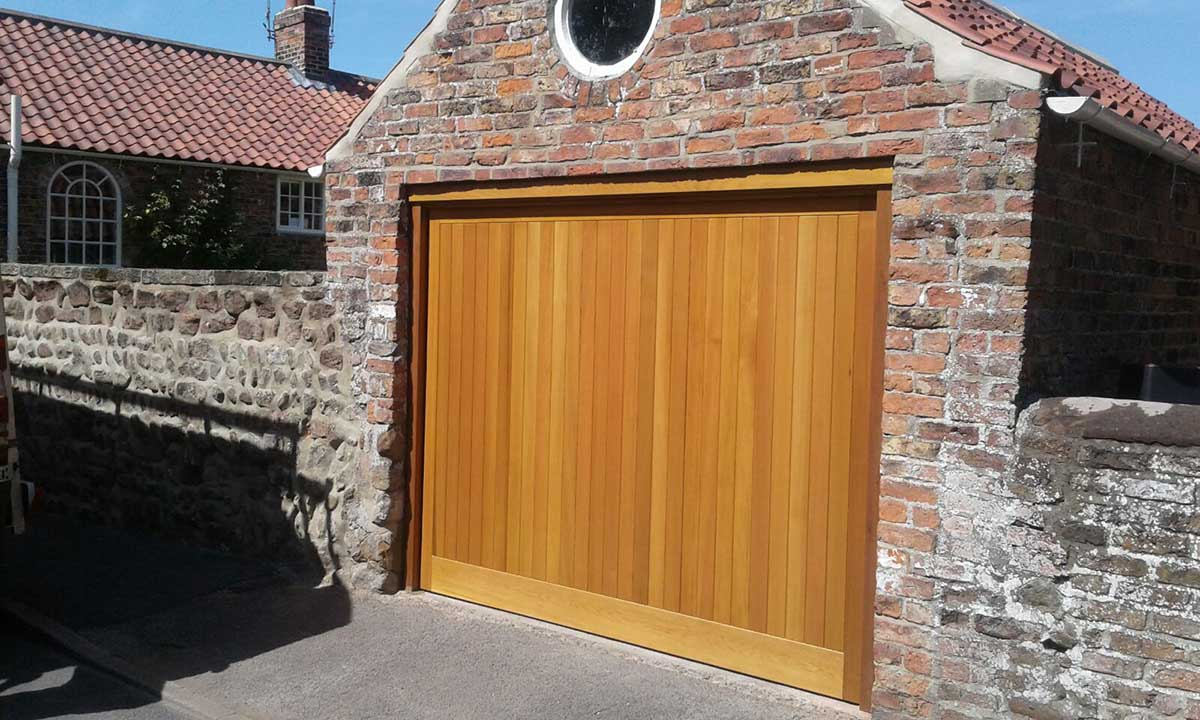 Cedar Up and Over Garage Door Yorkshire